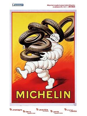 Carte Michelin 100 ème anniversaire Auxerre - Gien N°20