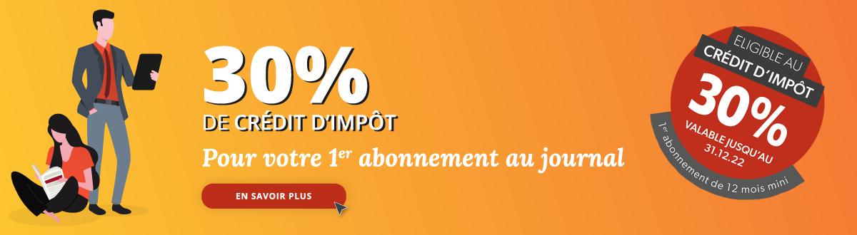 Crédit impôt abonnement journal Centre France