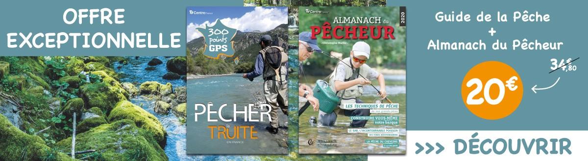 Offre exceptionnelle pour le guide de la pêche à la truite et l'almanach du pêcheur