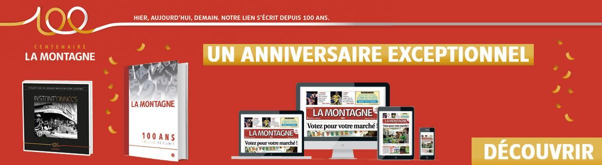 Offre d'abonnement 100 ans au journal La Montagne